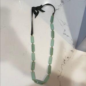 Mint green JCREW necklace